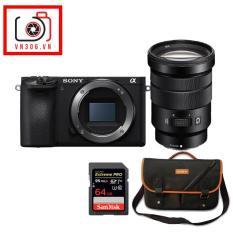 Combo Máy ảnh Sony Alpha A6500 + Ống kính Sony SEL 18-105 F4- Tặng thẻ nhớ 64Gb 95Mbs, túi Alpha