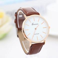 Đồng hồ nam dây da cao cấp thời trang mặt mỏng Geneva Q03(Cập nhật 2019)