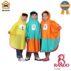 Áo mưa cánh bướm trẻ em Rando dành cho các bé có độ tưởi từ 2 đến 12 tuổi
