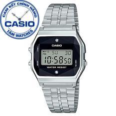Đồng hồ unisex dây thép không gỉ Casio Standard Anh Khuê A159WAD-1DF