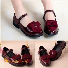 Giày công chúa bé gái đính nơ giày bé gái kiểu GLG042