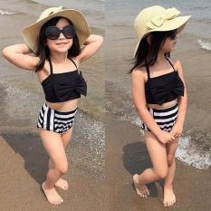 Đồ bơi bé gái từ 3-11 tuổi đen trắng Fairshop