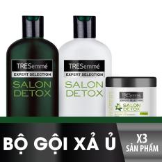 Bộ TRESEMME Salon Detox bao gồm Dầu gội 340g + Dầu xả 340g + Kem ủ 180ml