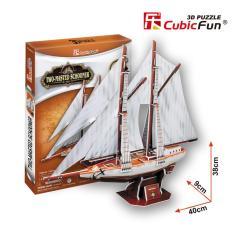Đồ chơi xếp hình trí tuệ 3D cỡ vừa – Mô hình thuyền buồm Two Masted Schooner
