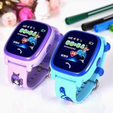 Đồng hồ định vị trẻ em thông minh DF25 – chống nước IP67 ( Xanh Dương + Tím )