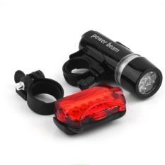 Bộ Đèn Pin Gắn Xe Đạp Và Đèn Chiếu Hậu 5 LED WJ-101 LE01