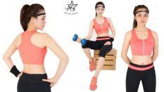 Bộ lửng thể thao nữ áo croptop dây kéo – DL14