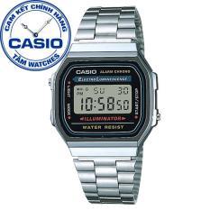 Đồng hồ unisex dây thép không gỉ Casio Standard Anh Khuê A168WA-1WDF