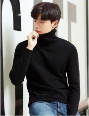 Áo len nam cổ lọ ( ĐEN ) thời trang 2019, form body Hàn Quốc, chất len Quảng Châu cao cấp