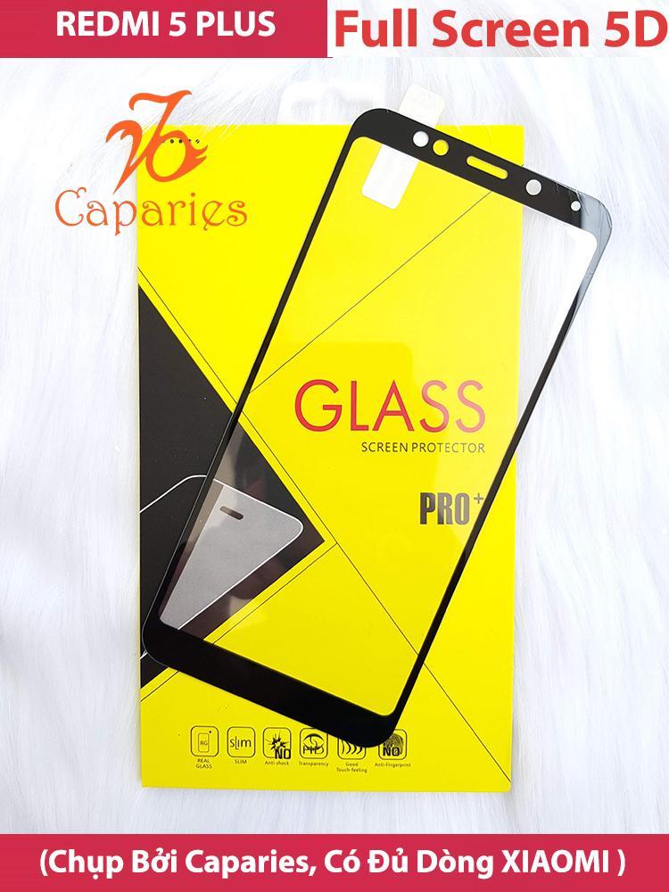 ( Màu ĐEN ) Kính Cường lực XIAOMI REDMI 5 Plus Full màn hình 5D CAPARIES SIÊU BỀN Đang Bán Tại Caparies Shop