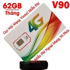 Sim 4G Viettel 62GB/ tháng (V90)
