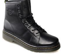 Giày nam cao cổ Thái Dr. Martens màu đen bụi bặm mã GCC897D