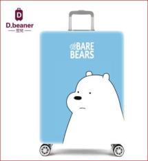 Túi bọc bảo vệ vali We Bare Bears ( màu xanh da trời , sz M 22-25 inch)