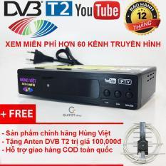 Đầu thu kỹ thuật số DVB-T2 HÙNG VIỆT TS-123 Internet tặng Anten thông minh