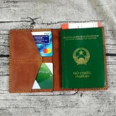 Ví đựng passport, ví đựng hộ chiếu, bao da đựngậpassport hộ chiếu da bò handmade