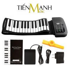 Đàn Piano Konix 88 phím cuộn mềm dẻo Flexible PA88 (Roll Up Piano hỗ trợ kết nối máy tính – Pin sạc 1000mAh – Có Pedal, Cáp kết nối USB – Midi Keyboard Controller – Tặng Kèn Kazoo)