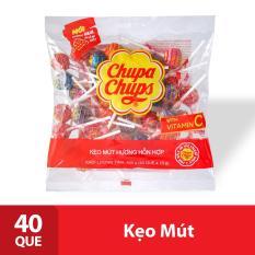 Kẹo mút Chupa Chups Hương Trái Cây Hỗn Hợp (Gói 40 Viên)