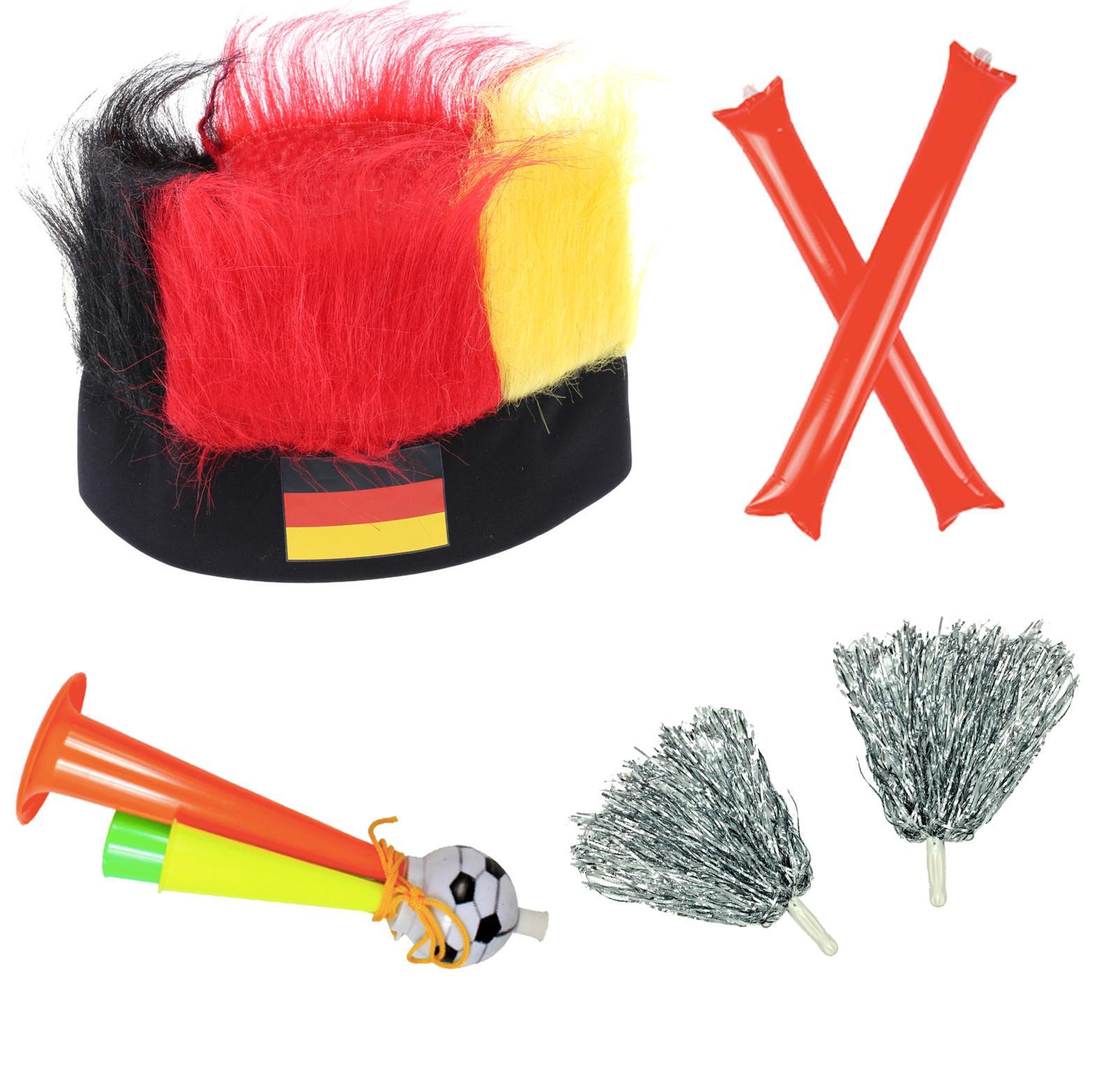 Combo cổ động bóng đá (Mũ – cặp Bóng Đập – cặp Bông cổ vũ – Kèn Thổi)