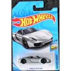 Ô tô mô hình tỉ lệ 1:64 Hot Wheels 2018 Porsche 918 Spyder 184/365 ( Màu Xám )