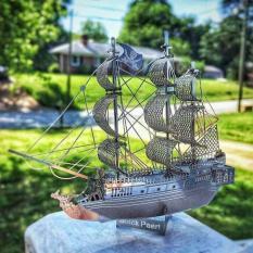 Mô hình kim loại lắp ghép lắp ráp trang trí trưng bày 3D Tàu Cướp Biển Caribe bằng thép không gỉ (tặng dụng cụ lắp ghép khi mua 2 bộ bất kì)