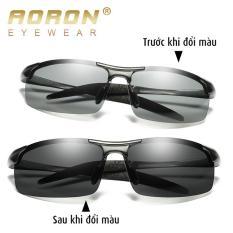 Kính đổi màu, kính râm, kính mát nam, mắt kính phân cực UV – MK1814