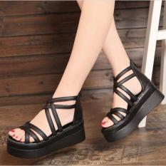 Giày Sandal đế xuồng phong cách Hàn Quốc – SS11
