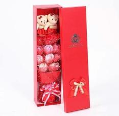 Quà tặng dễ thương- Hộp hoa hồng sáp MARKETVIETNAM- 11 bông