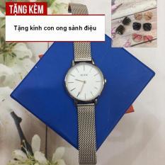 [TẶNG KÍNH MÁT CON ONG THỜI TRANG CAO CẤP] Siêu hấp dẫn cùng chiếc đồng hồ thời trang thương hiệu GUOU dành cho nữ với chất liệu thép lưới bền đẹp G43-CV2