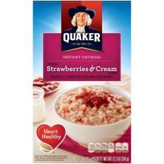Yến Mạch Trái Cây Ăn Kiêng Quaker Oatmeal Vị Dâu 350g ( 10 gói )