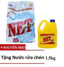 Bột giặt Net Extra siêu sạch 6kg TẶNG Nước rửa chén NET 1,5kg