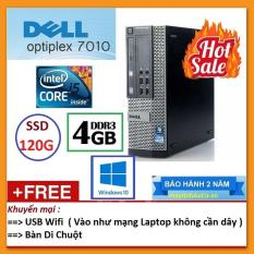 Thùng Dell optiplex 7010 ( Core i5 2400 / 4G / SSD 120G ), Tặng USB Wifi , Bàn di chuột – Bảo hành 24 tháng – Hàng Nhập Khẩu