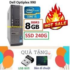 Thùng Đồng Bộ Dell Optiplex 990 (Core i5 2400 / 8G / SSD 240G ), Tặng USB Wifi , Bàn di chuột , Bảo hành 02 năm – Hàng Nhập Khẩu