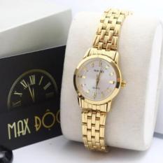 Đồng hồ nữ dây thép không gỉ Halei mạ vàng mặt vàng N502