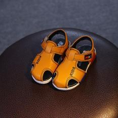 Sandal bé trai quay dán RS073 (Vàng) Size 22-26