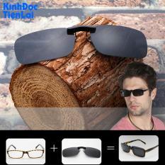 Tròng kính mát kẹp phân cực cho người cận viễn Kính râm kẹp cận viễn