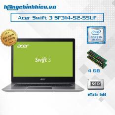 Laptop Acer Swift 3 SF314-52-55UF i5-8250, 4GB, 256GB SSD, Intel UHD Graphics 620, 15.6″ – Hãng phân phối chính thức