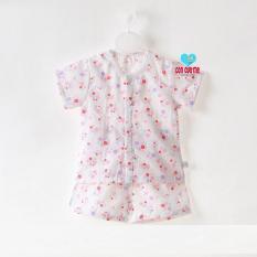 Bộ quần áo xô 2 lớp cộc tay cài giữa Peachs siêu mát cho bé 1-4 tuổi