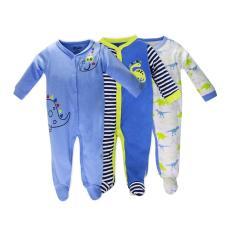 Set 3 Bộ Body Dài Tay Liền Tất Baby Gear Hàng Xuất Dư Đẹp Cho Bé Trai