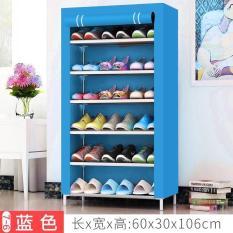 Tủ vải giày dép 7 tầng 6 ngăn cao cấp – Màu Xanh Dương