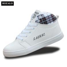 Giày cổ cao thời trang nam Rozalo RM5822W – Trắng
