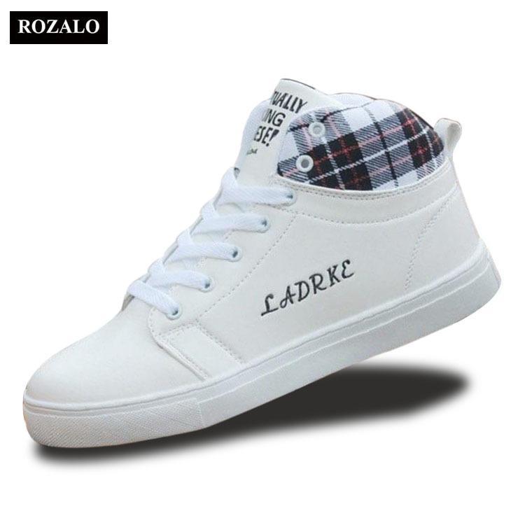 Giày cổ cao thời trang nam Rozalo RM5822W - Trắng