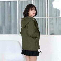 Áo khoát kaki nữ dạng trơn