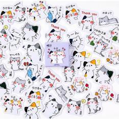 Bộ 56 Sticker Bé Mèo Dễ Thương – Chống Thâm Nước