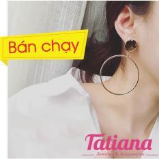 BÔNG TAI KHOEN TRÒN TO-TATIANA- B2333 (Bạc)