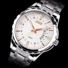 Đồng hồ thời trang skmei 9609 cho nam trắng gold