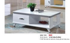 Bàn sofa mặt kính cường lực nhập khẩu Mina Furniture MN-805-13 (1200*600*450)