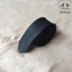 Cà vạt nam bản nhỏ 3cm Hàn Quốc – ĐEN MỜ