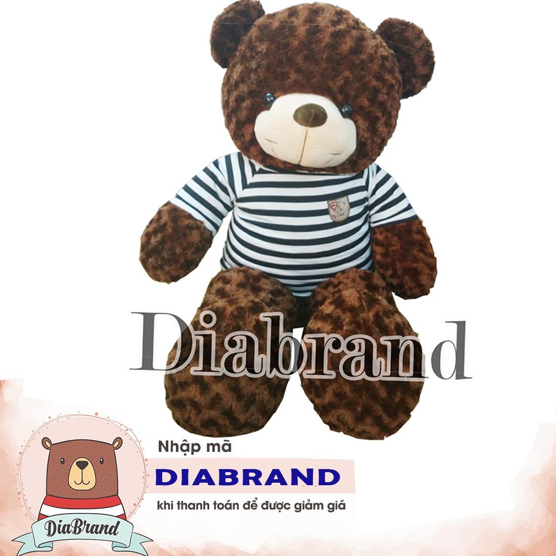 GẤU BÔNG TEDDY CAO CẤP KHỔ VẢI 1M DÀI 80CM NÂU -TEDDY08 (nhà bán hàng Diabrand)
