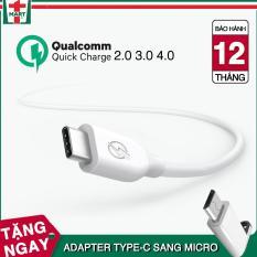 Dây sạc USB Type C hỗ trợ sạc nhanh Qualcomm Quick Charge cho Samsung Galaxy Note 8/ S8/ S8 Plus 9/ 9 Plus và các máy có cổng Type-C – Hàng Bagi Việt Nam