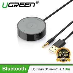 Bộ nhận Bluetooth âm thanh 4.1 không dây, kết nối điện thoại trên Ô tô có hỗ trợ Micro, giắc 3.5mm dài 3m UGREEN 30447 – Hãng phân phối chính thức